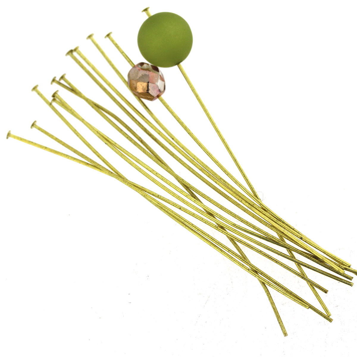 Light Gold Thin Head-Pin Finding