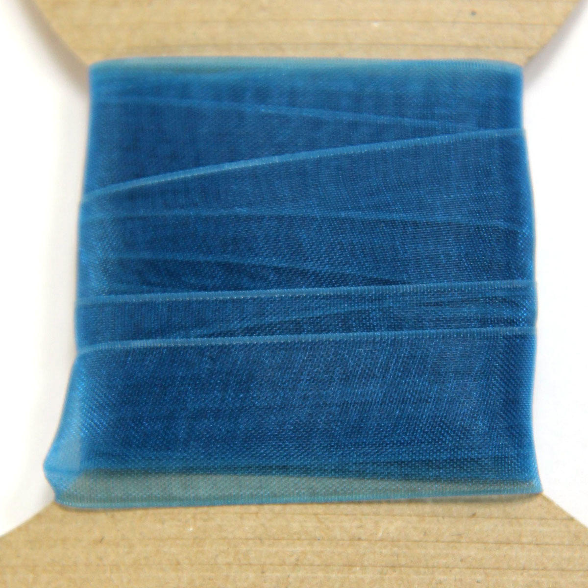 Vivid Blue Organza Ribbon