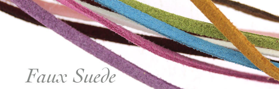 Faux Suede Jewellery Cords at Bijoux Beads