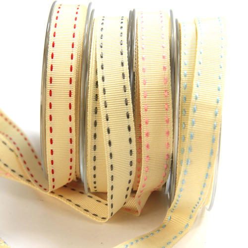 Stitched Grosgrain Ribbon by Berisfords