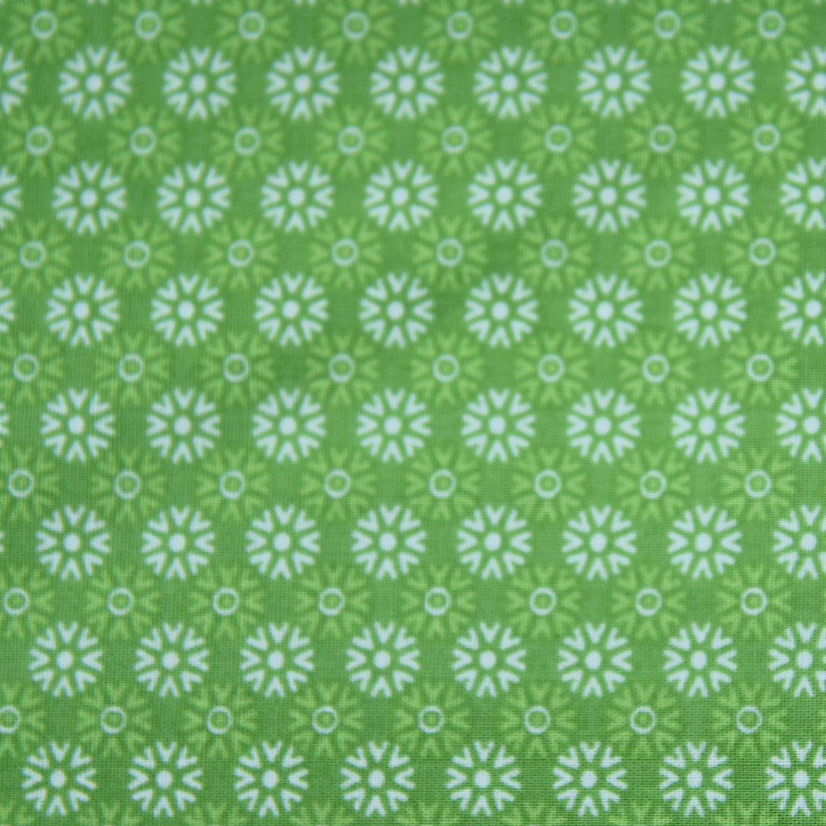 Green Patterned Fabric Rectangle