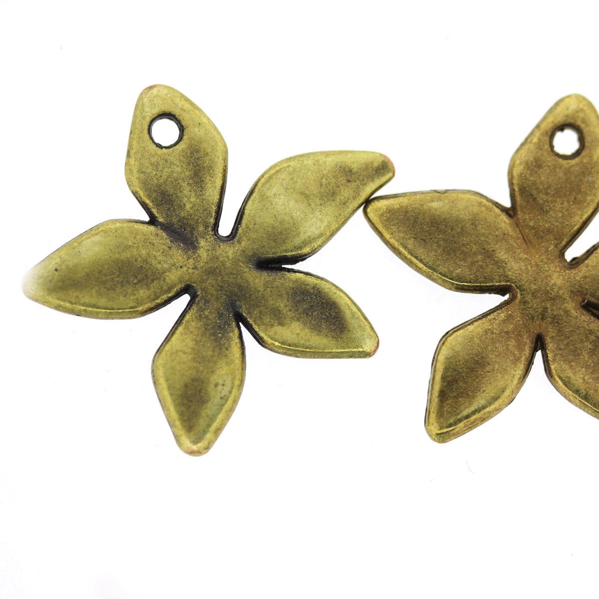 Antique Gold Starflower Bead Charm