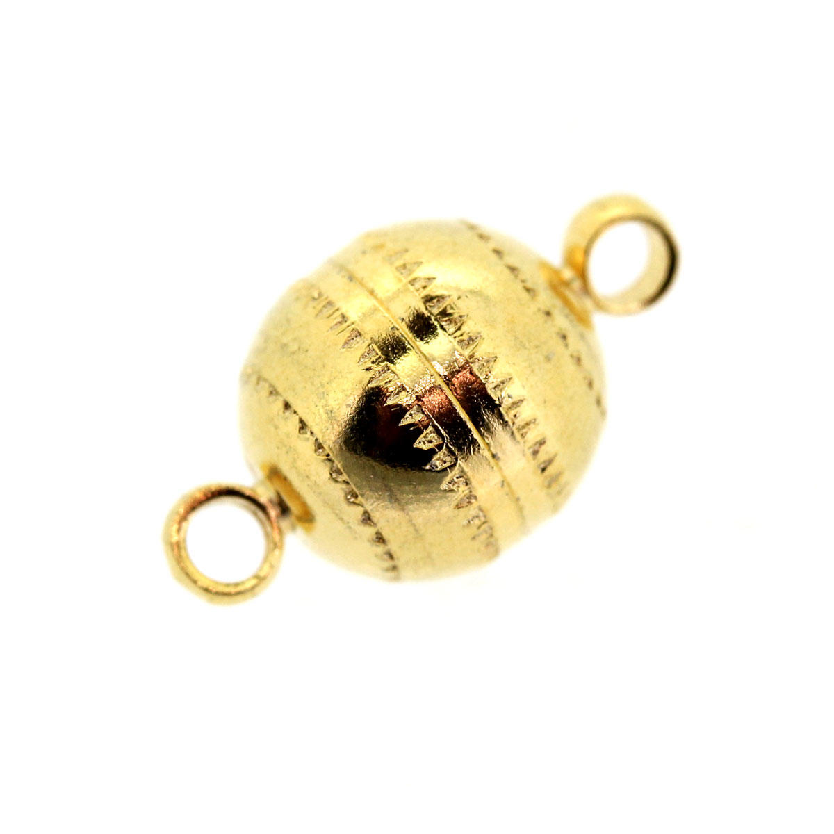 Gold Ball Magnetic Clasp