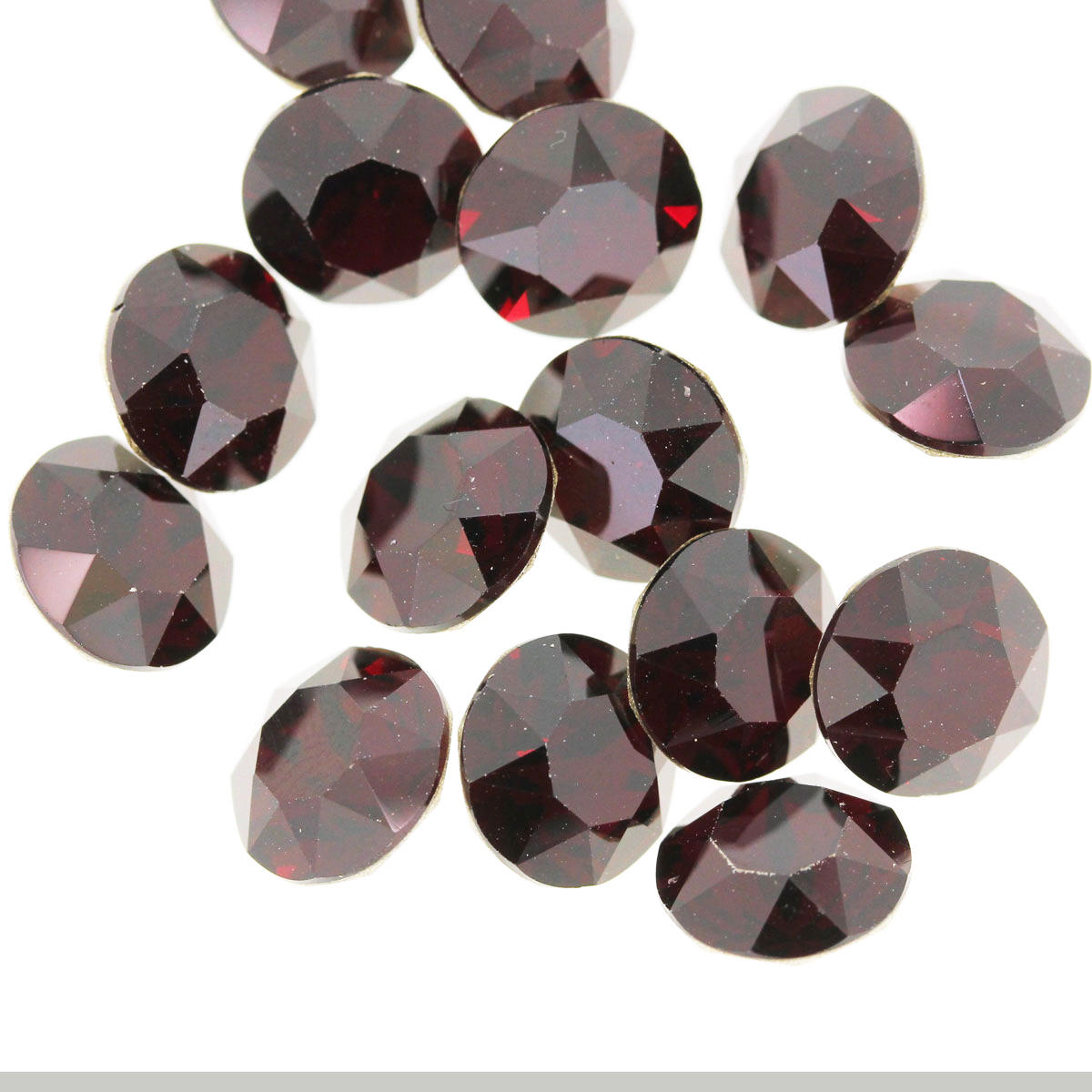 Garnet SS29 Swarovski Pointed Back Crystal Chaton