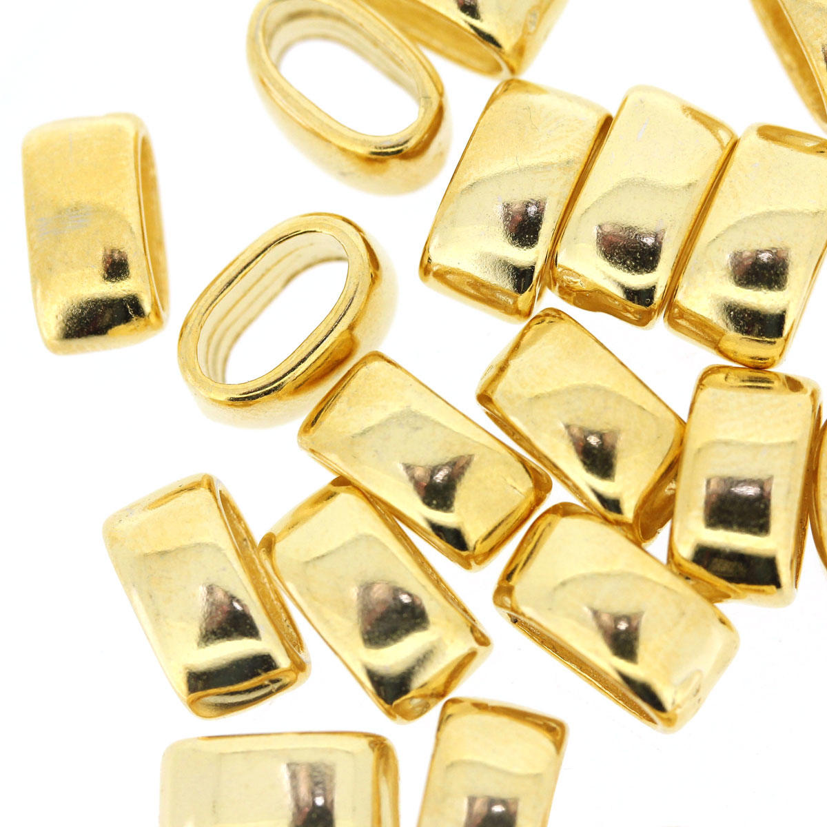 Gold Smooth Cord Separator Metal Bead