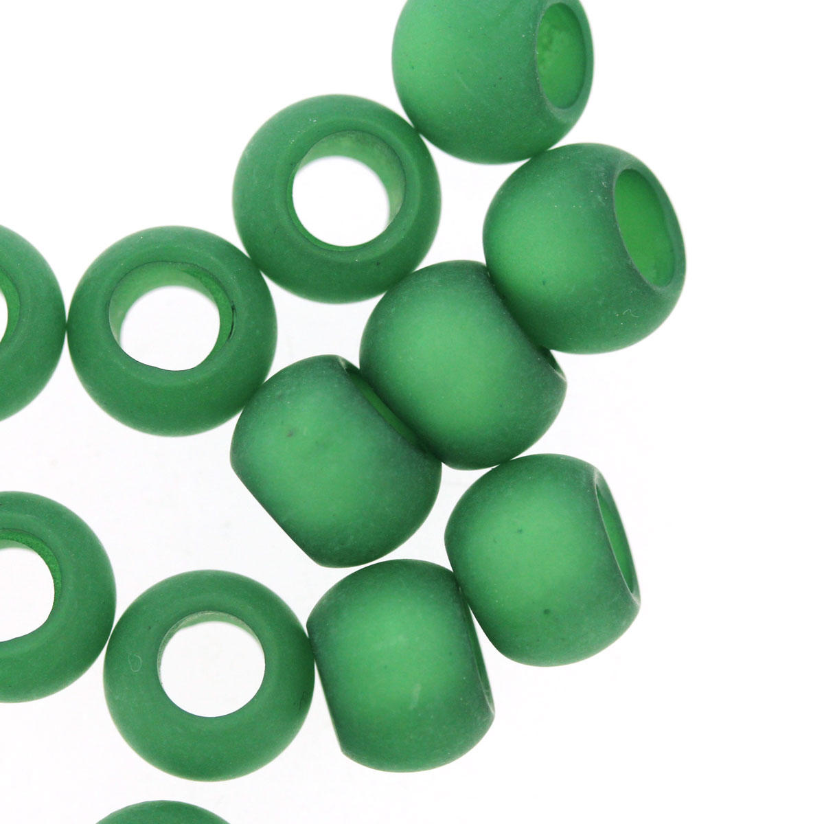 Emerald Large Hole Polaris Beads