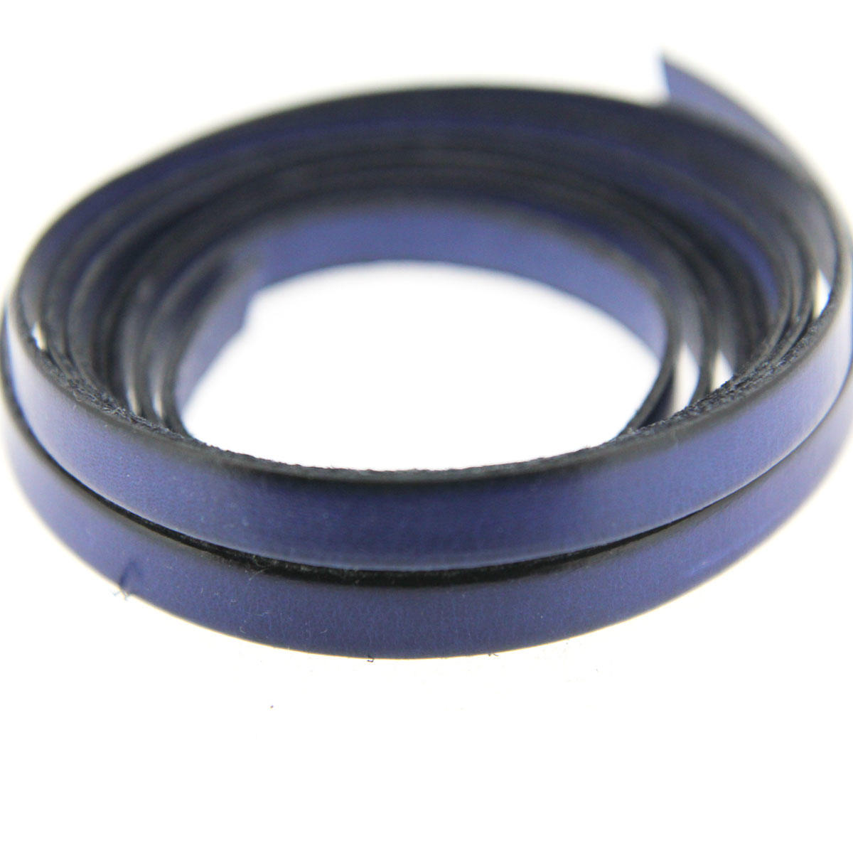 Navy Blue 10mm Flat Leather