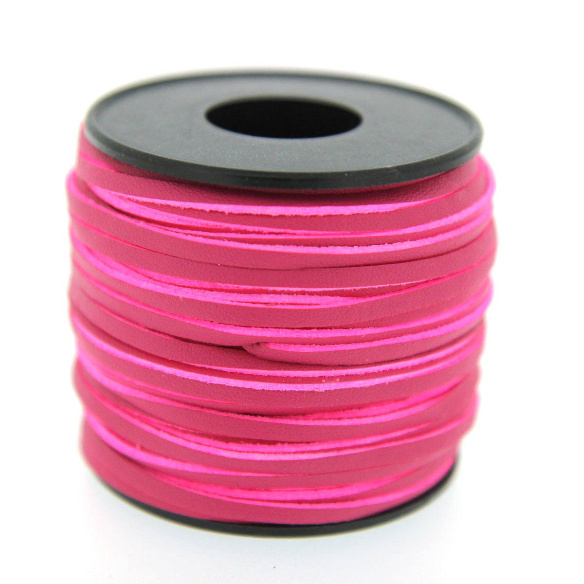 Pink/Fuchsia Two Tone Leather Faux Cord
