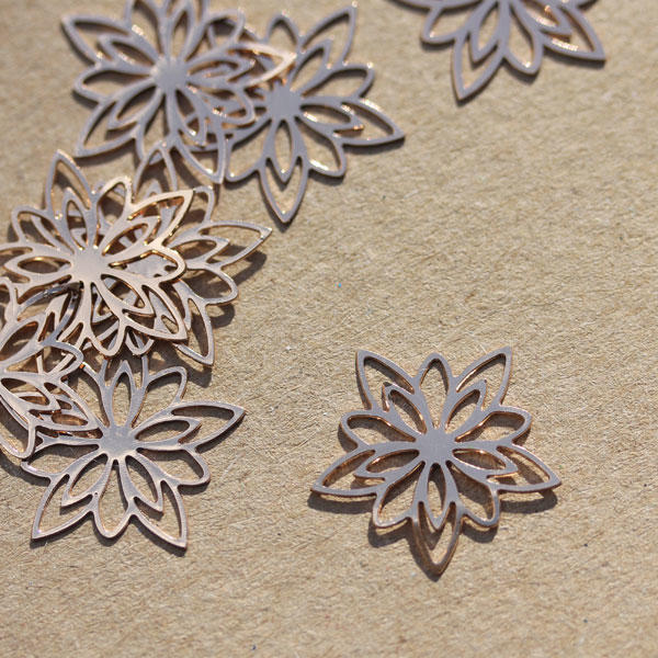 Rose Gold Snowflakes