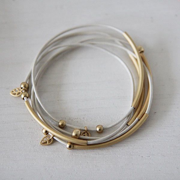 bracelets with soft gold tubes