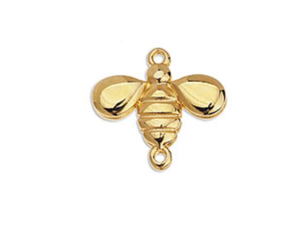 Honey Bee Gold Charm