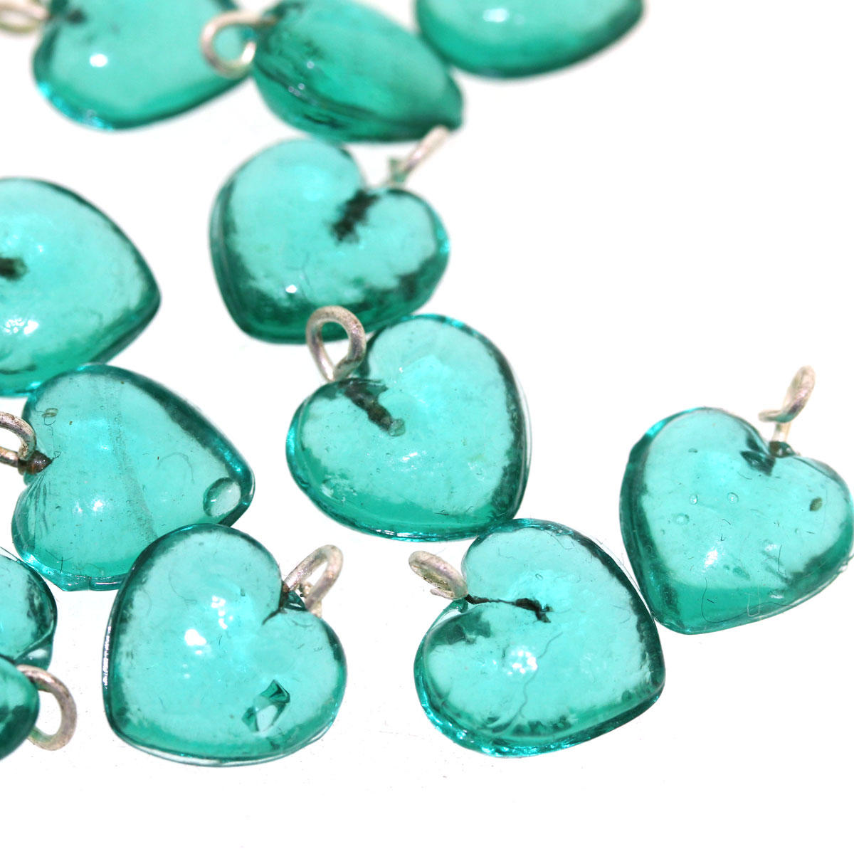 Jade Small Heart Glass Pendant- Code 12/11