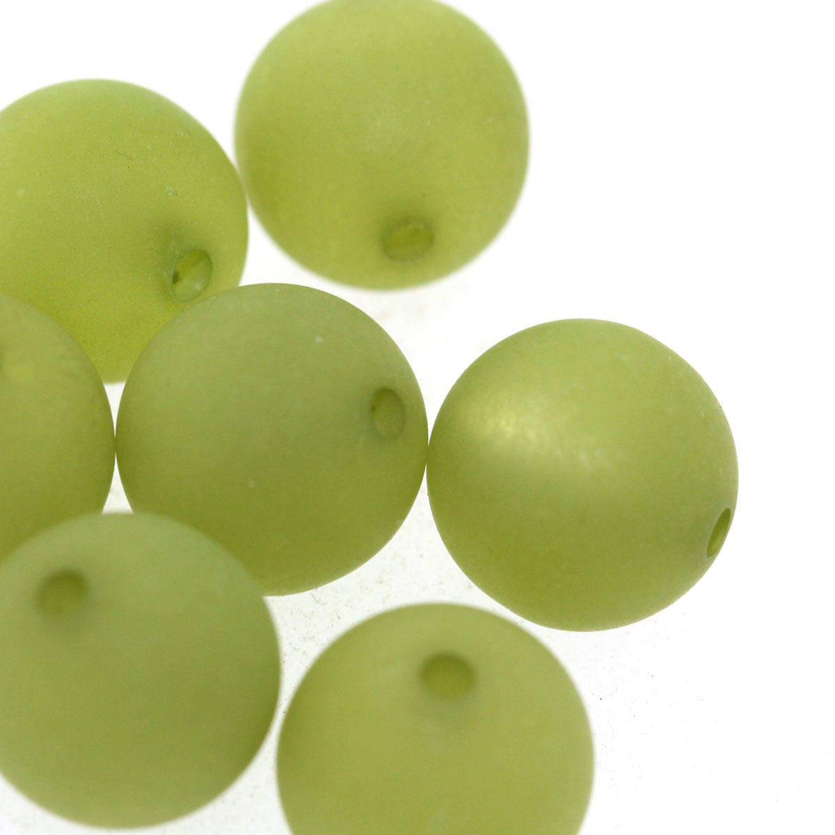 Olive Round 12mm Polaris Bead