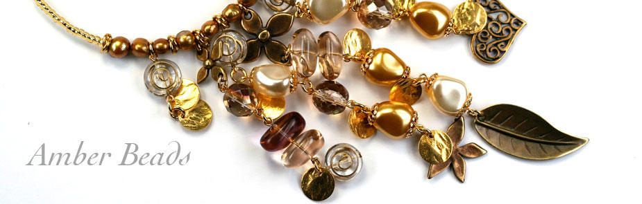 Amber and Topaz Beads at Bijoux Beads