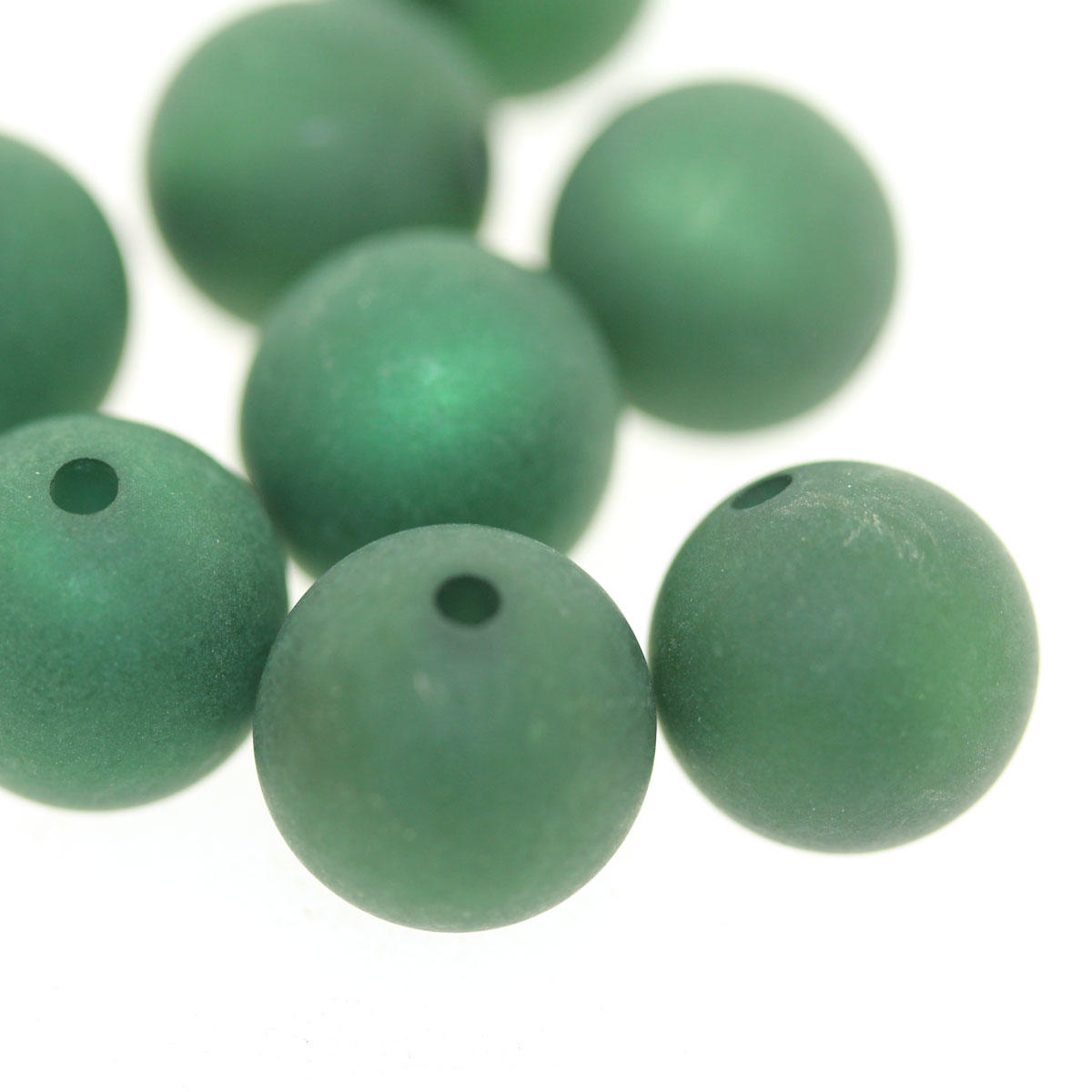 Emerald 12mm Polaris Round Bead