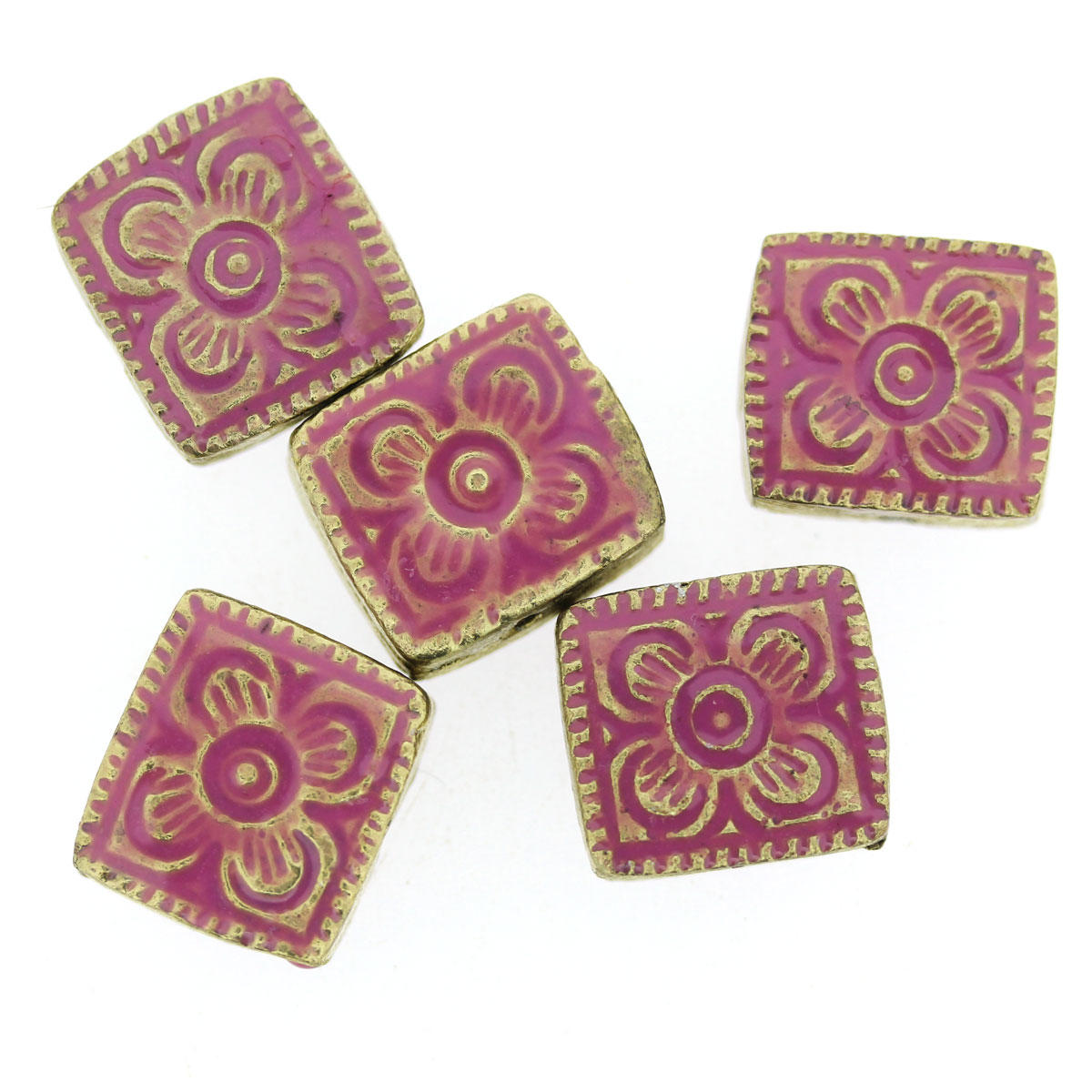 Pink Bollywood Rectangle Bead