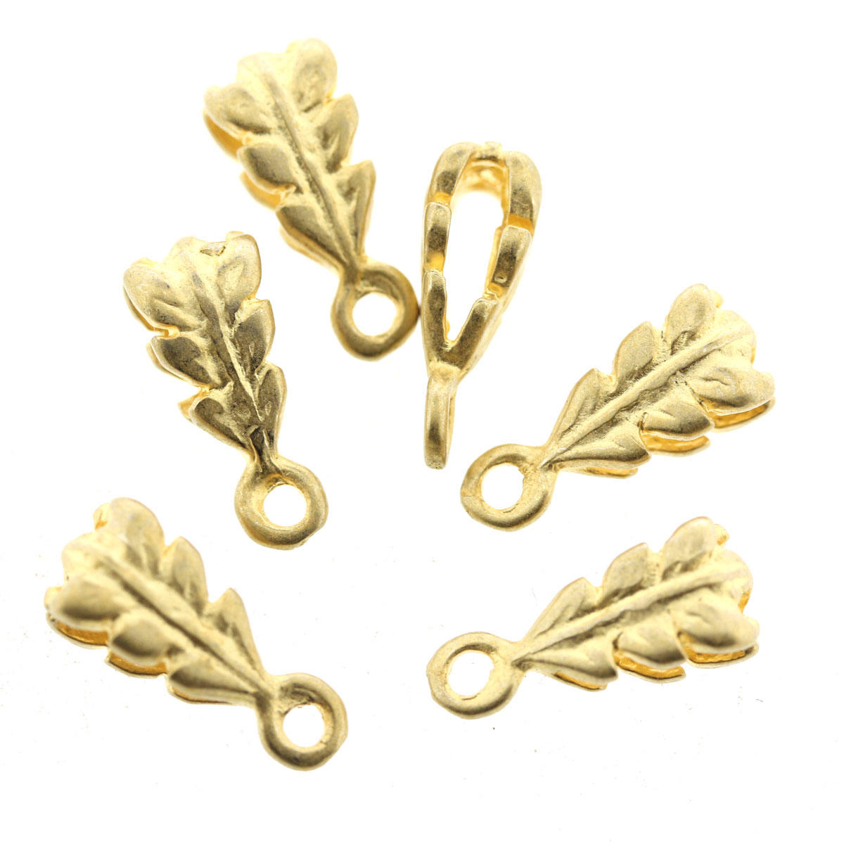 Gold Oak Leaf Pendant Bead Dropper