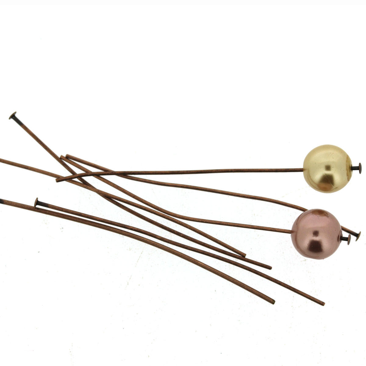 Antique Copper Thin Headpin Findings
