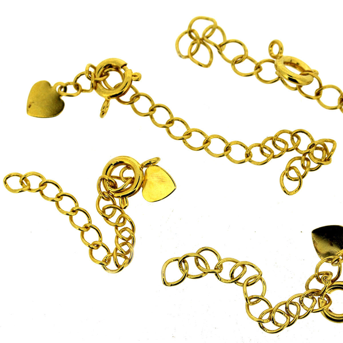 Gold Extender Chain with Heart and Bolt