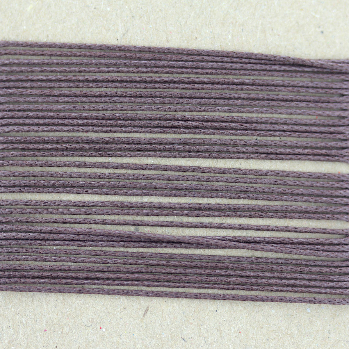 Brown Thin Cotton Bead Cord 0.7mm