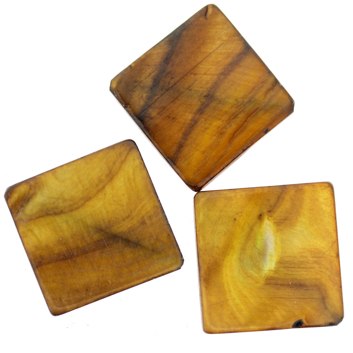 Mother of Pearl Bronze Square Bead