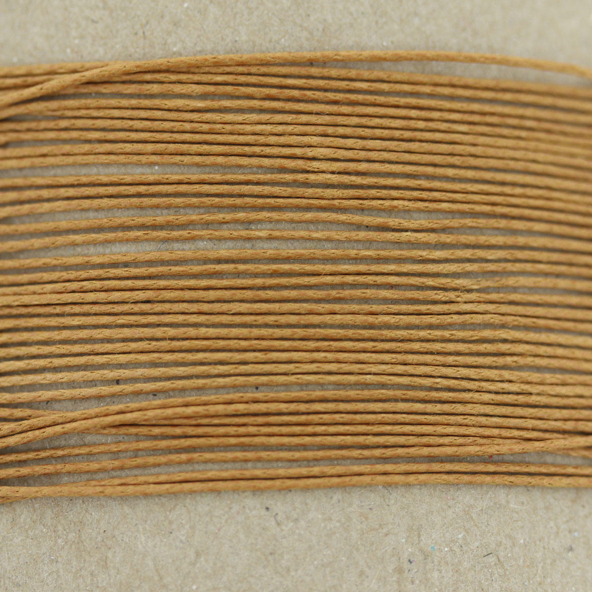 Tan Thin Cotton Bead Cord