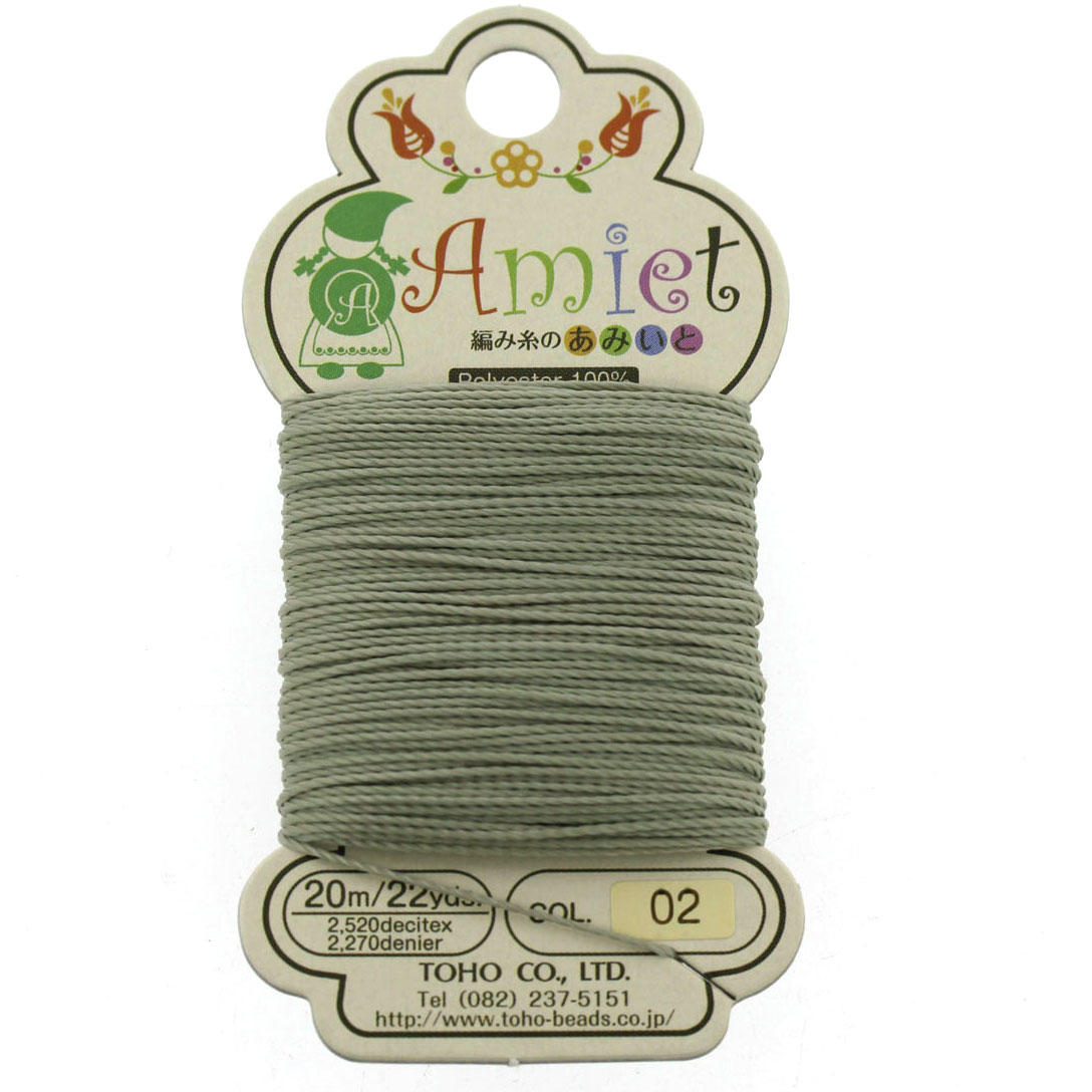 Amiet Grey Polyester Bead Cord