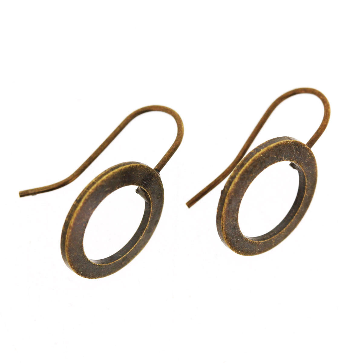Antique Gold Circle Earring Fitting