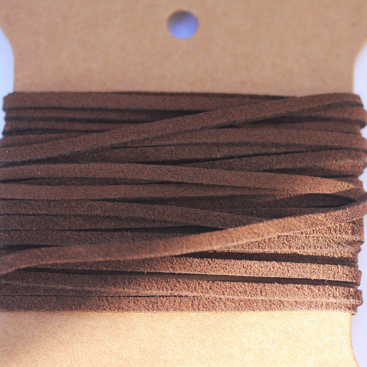 Dark Brown Faux Suede Jewellery Cord