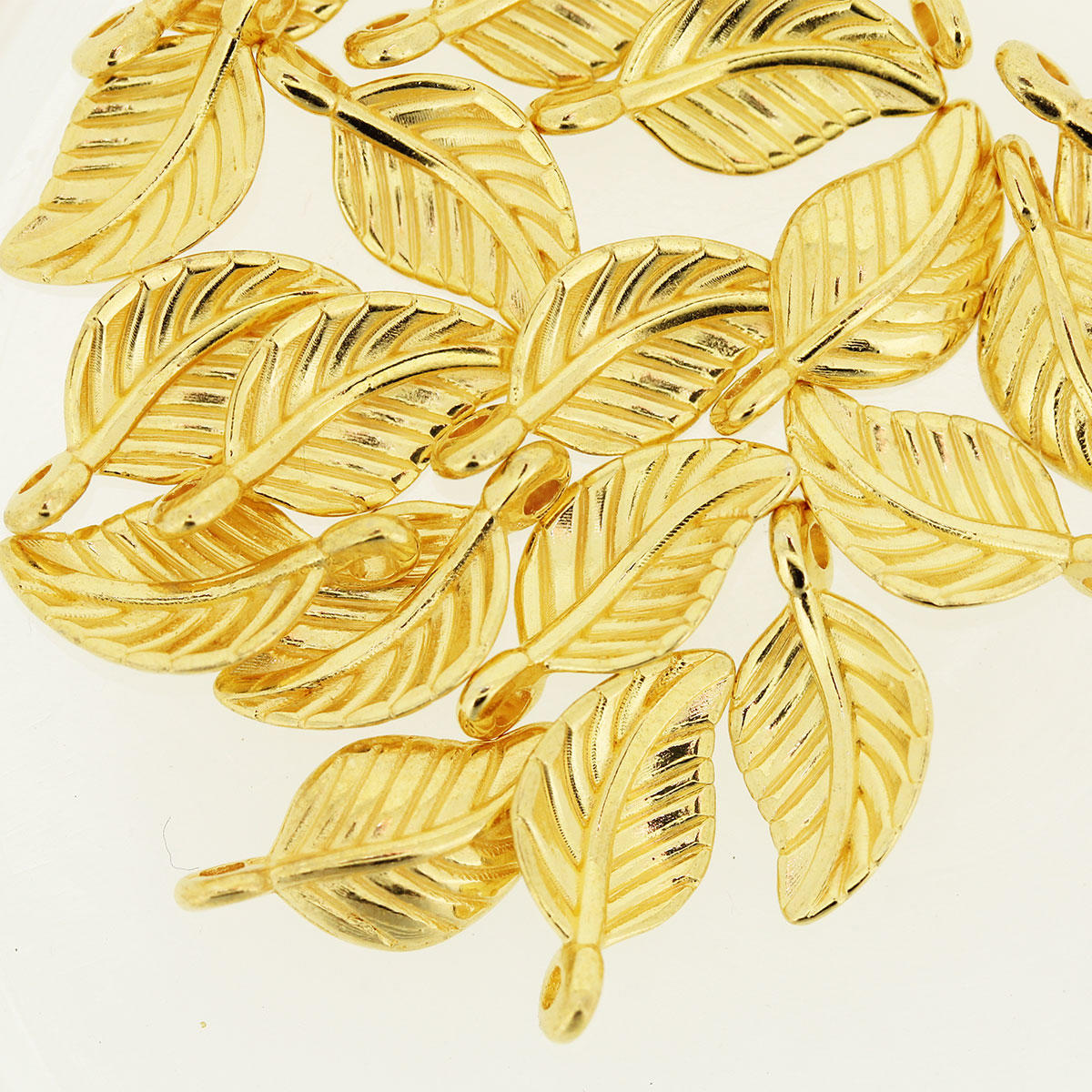 Gold Delicate Leaf Charm
