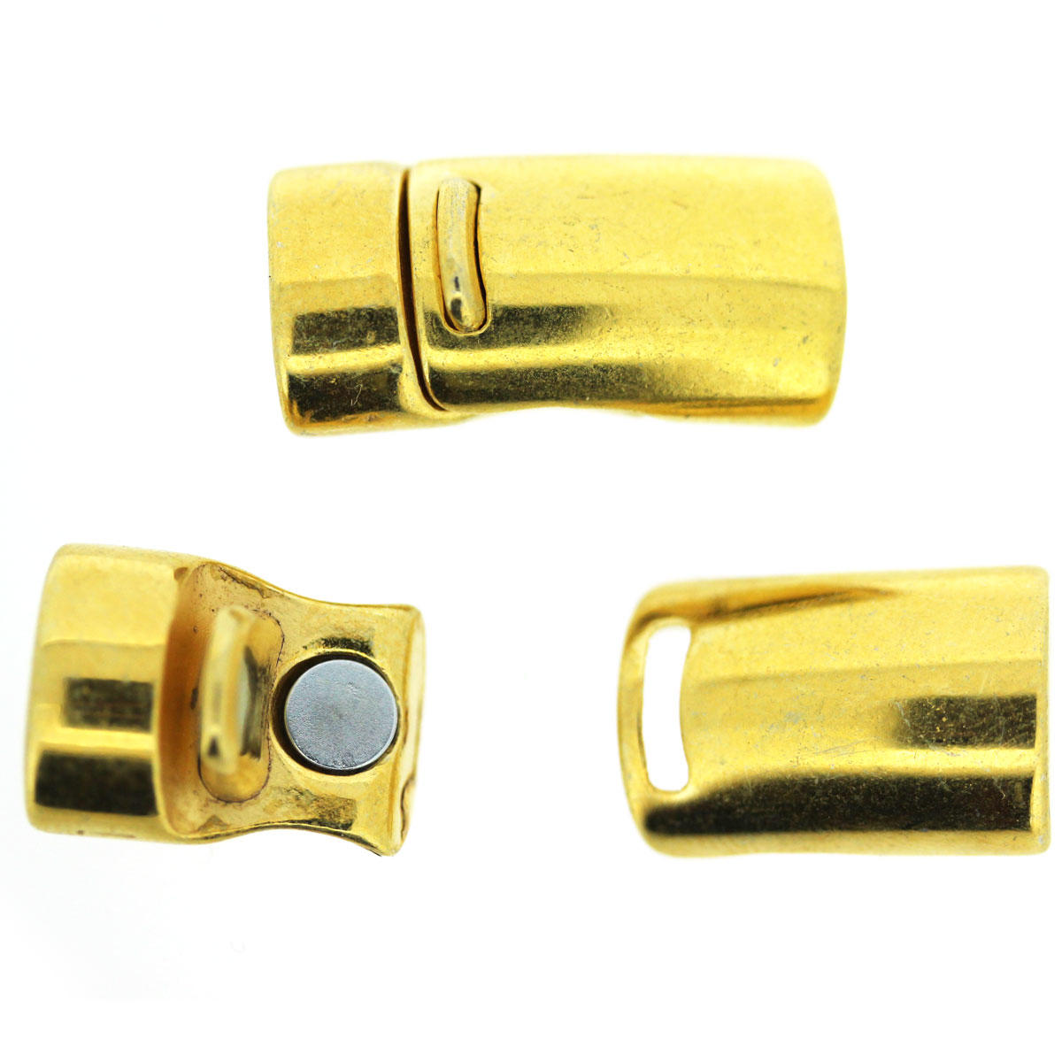 Gold Magnetic Clasp with Secure Clip