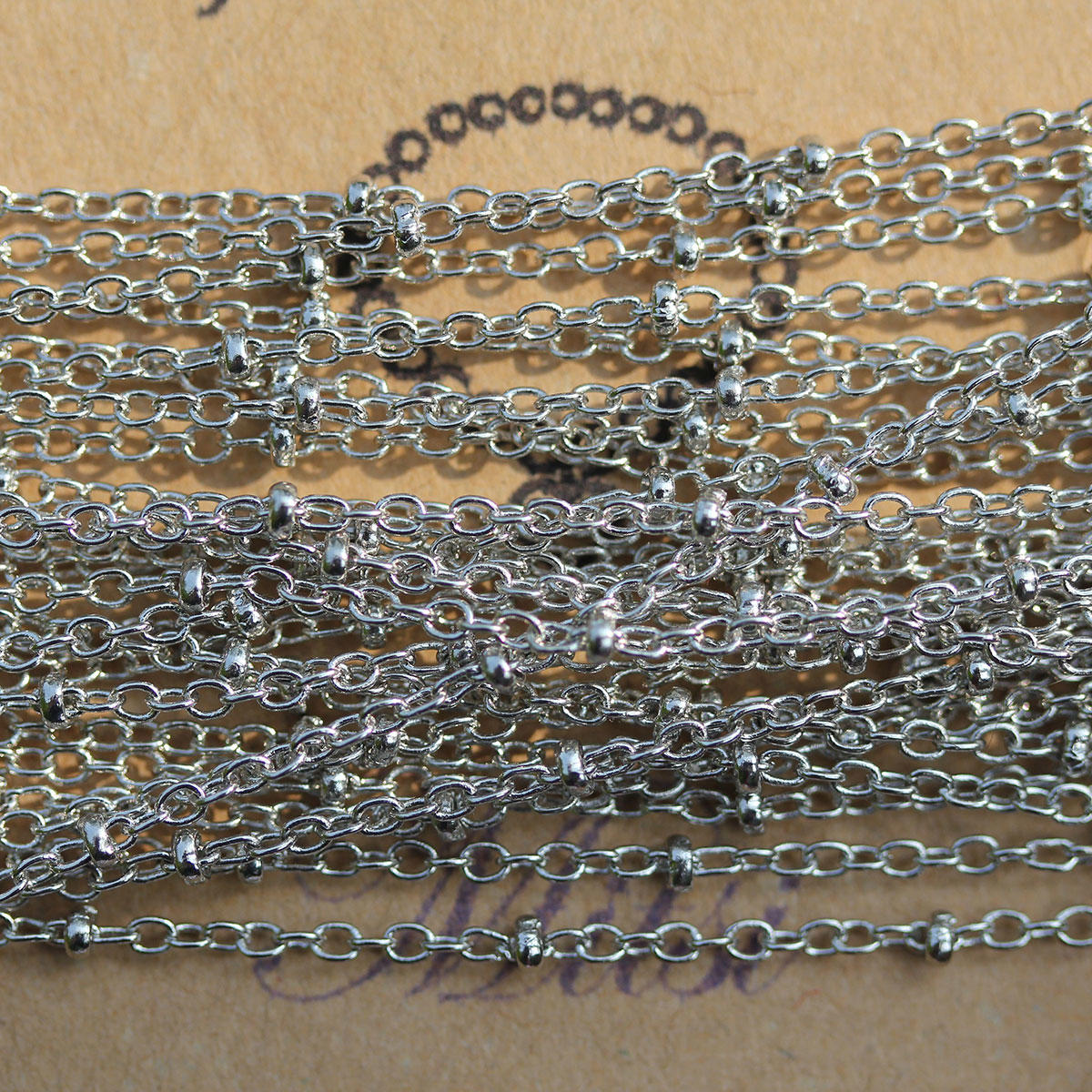 Silver Chain with Link & Ball