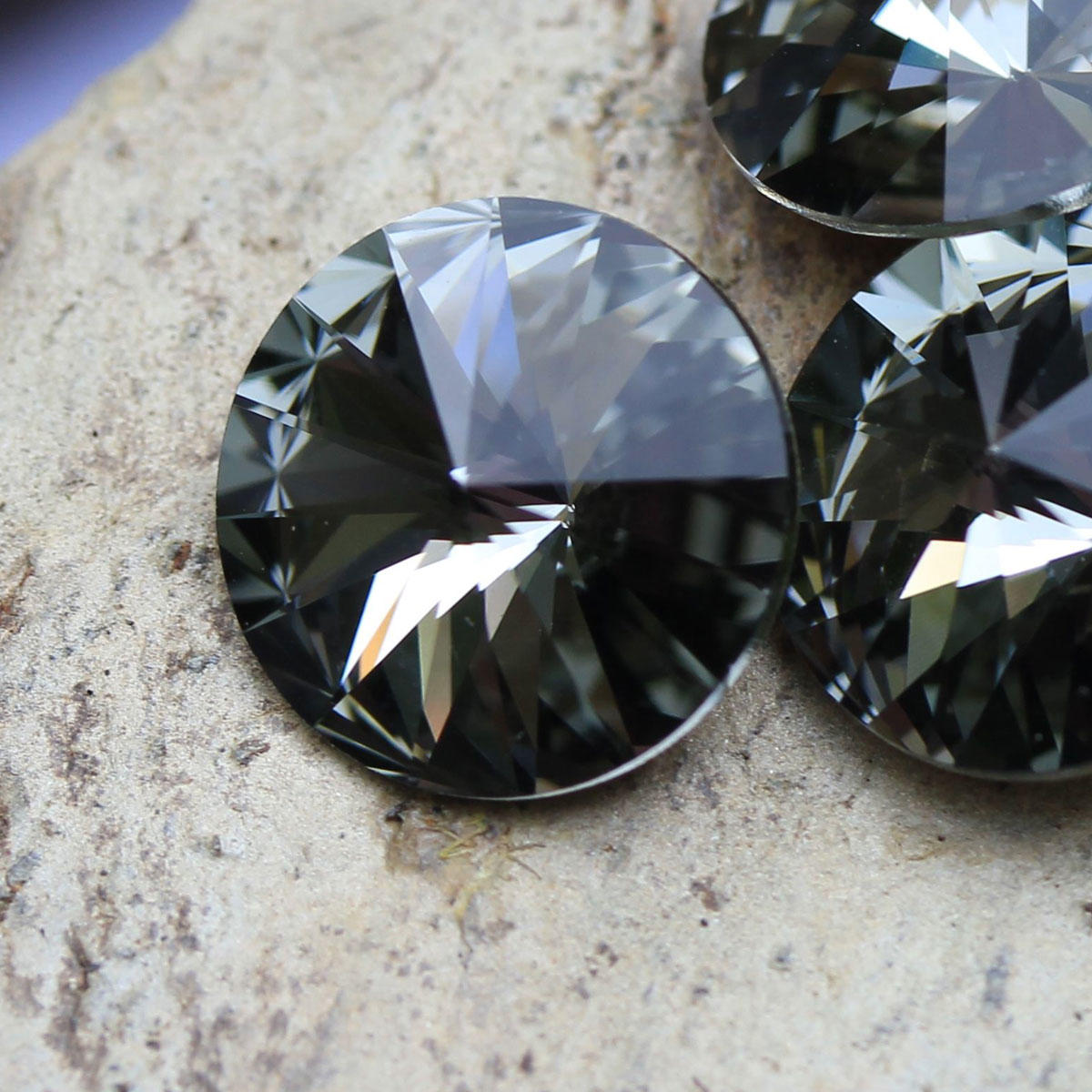 Swarovski Black Diamond 12mm Rivoli