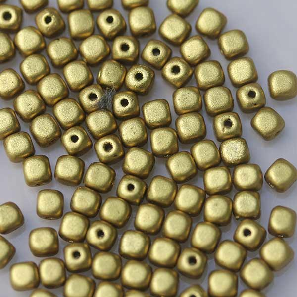 Gold Cube Beads