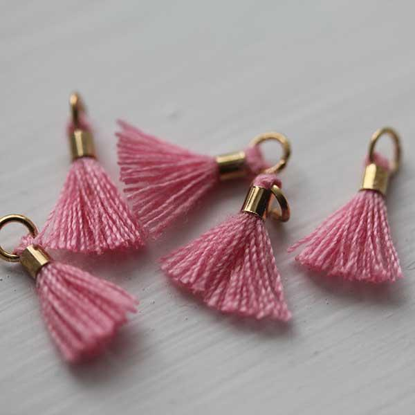 pink tiny Tassel gold