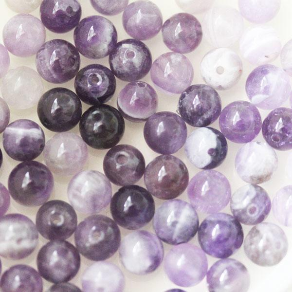 Natural Amethyst 6mm Beads