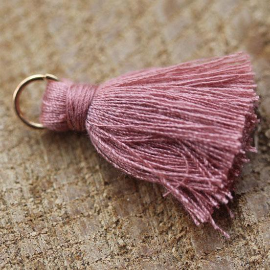 Dusty Pink Cotton Tassel