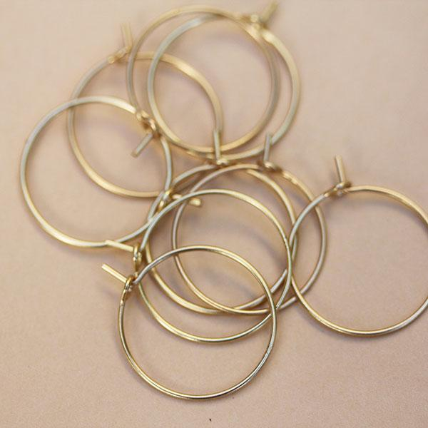 Soft Gold Hoop Earings