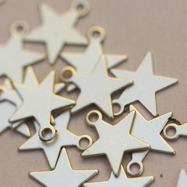 Gold Stars New for Jewellery Making
