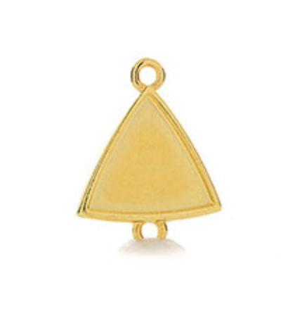 Red Enamelled Triangle Connector on Gold (G13)