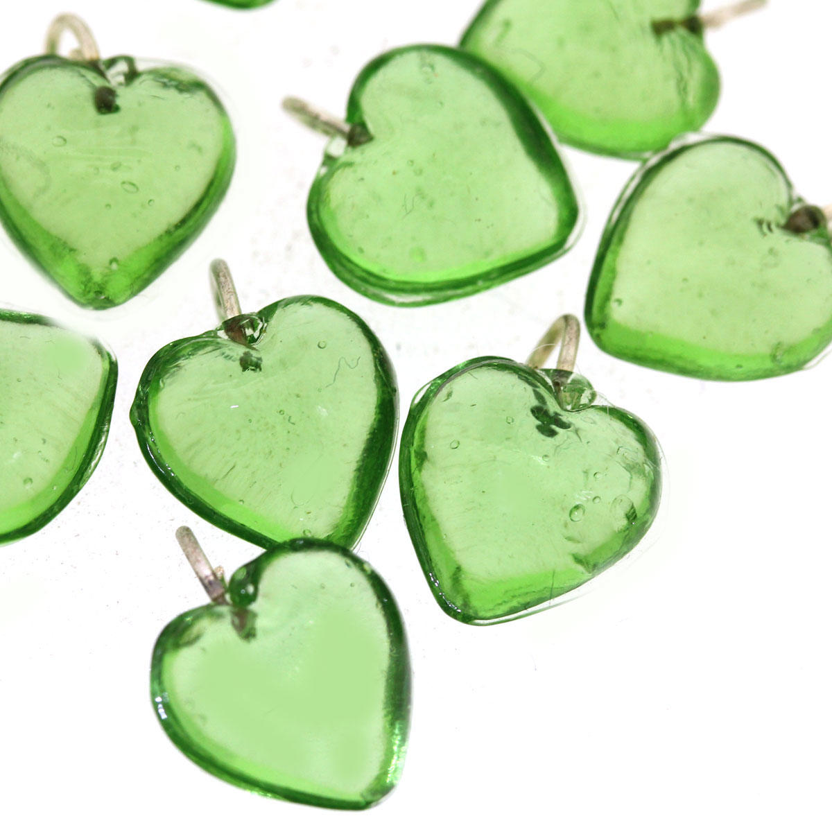 Green Small Heart Pendant- 12/11G