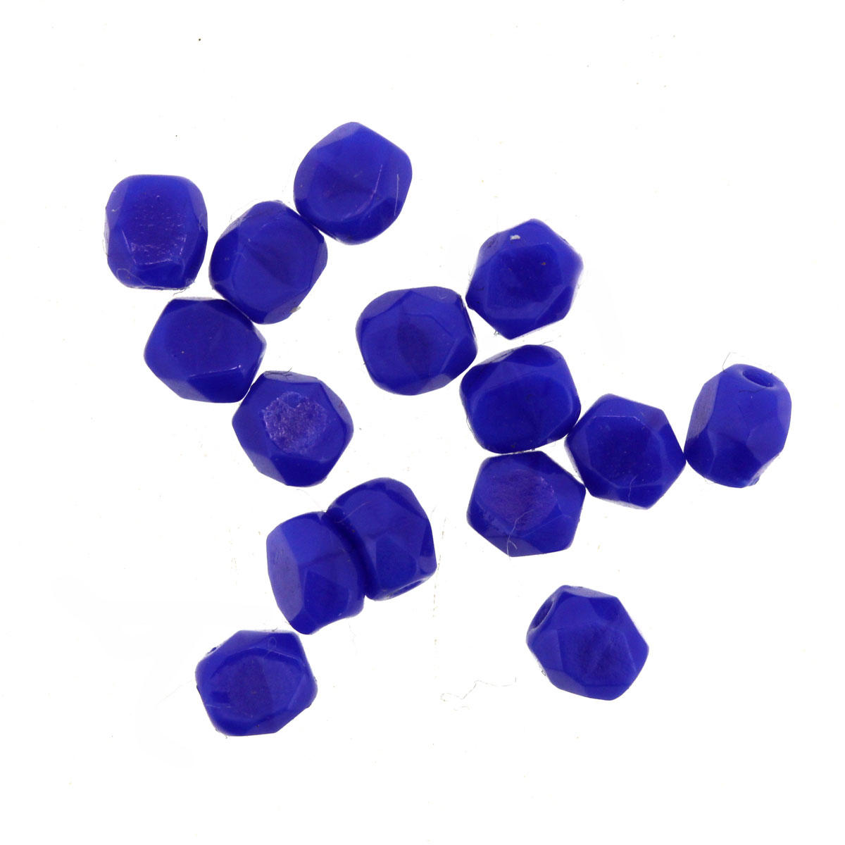 Colbalt Blue 4mm Faceted Glass Beads