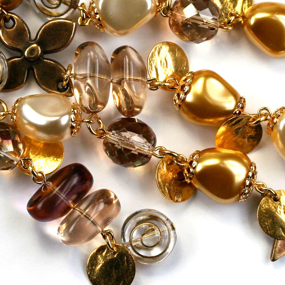 Amber and Topaz Beads