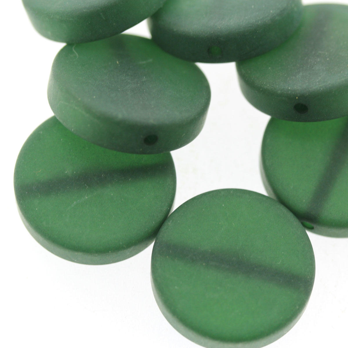 Emerald Green Polaris Coin Bead