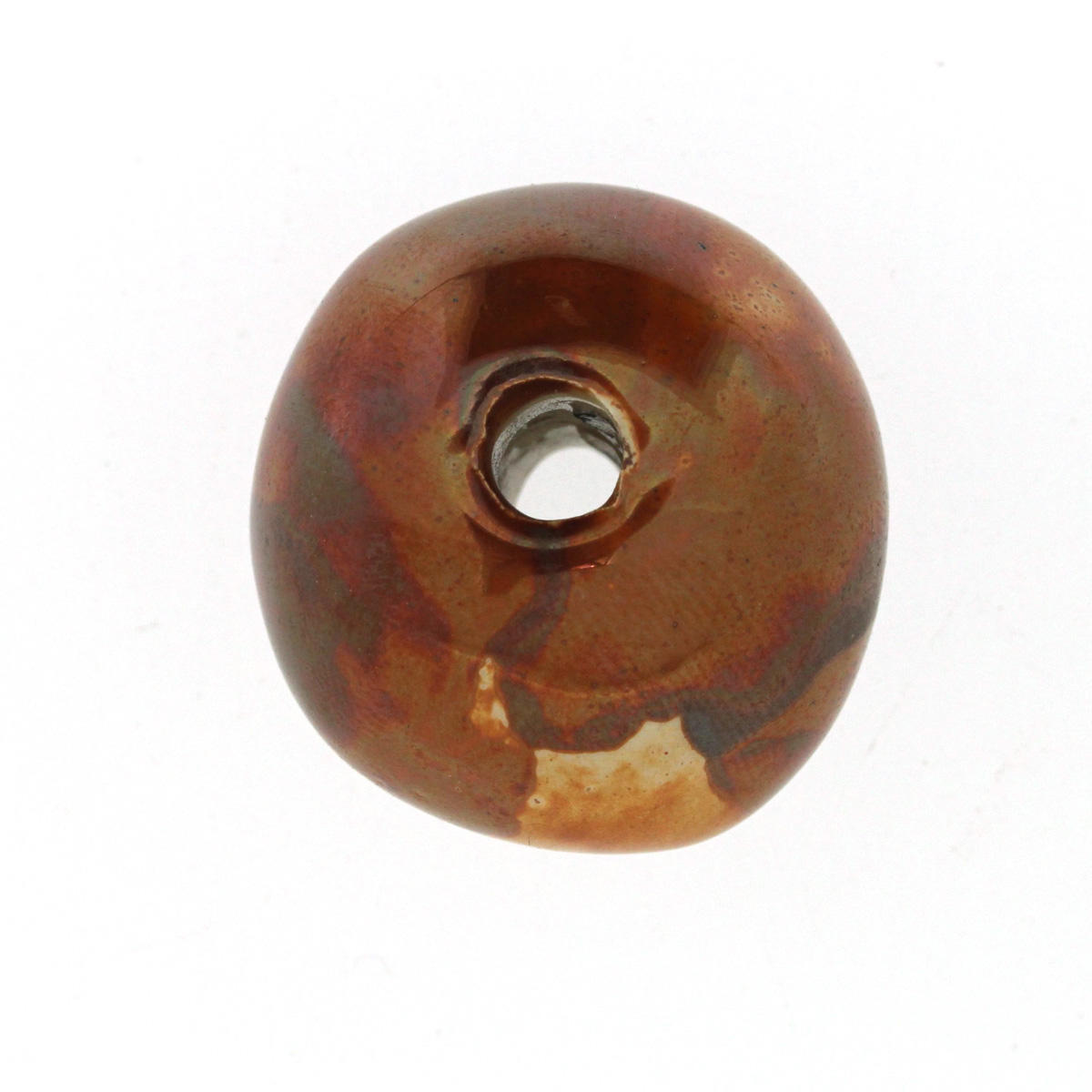 Coppernut Large Ceramic Bead
