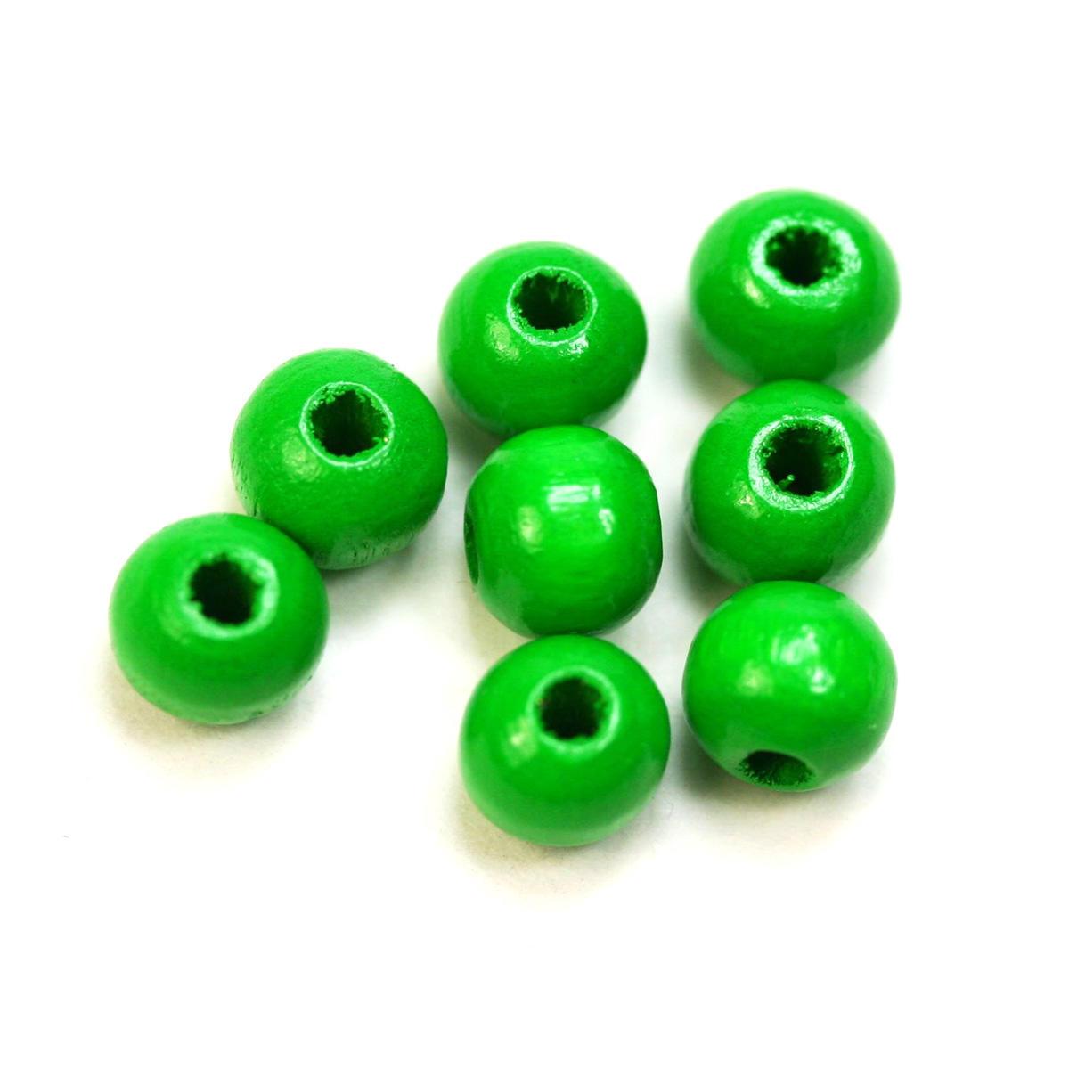 Green Round Wooden 6mm Bead