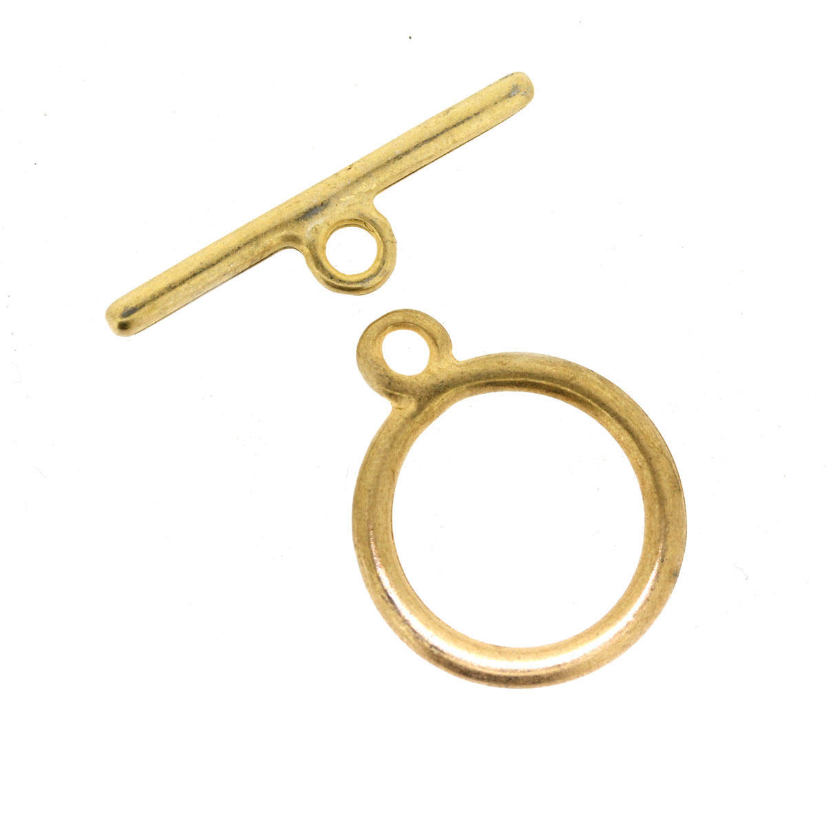 Gold Round Toggle Clasp