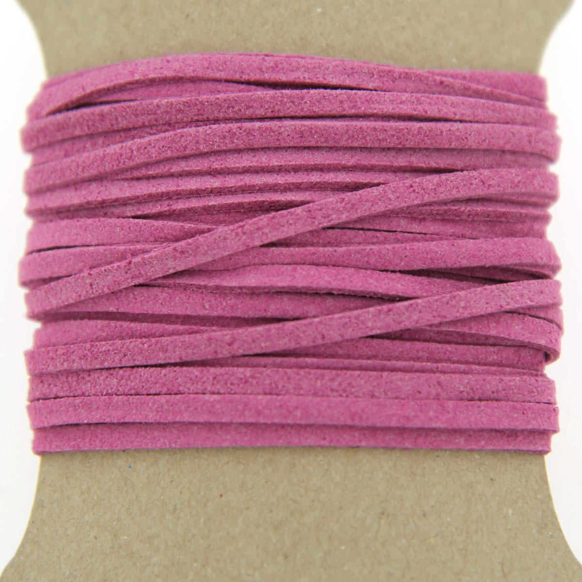Hot Pink Faux Suede Jewellery Cord