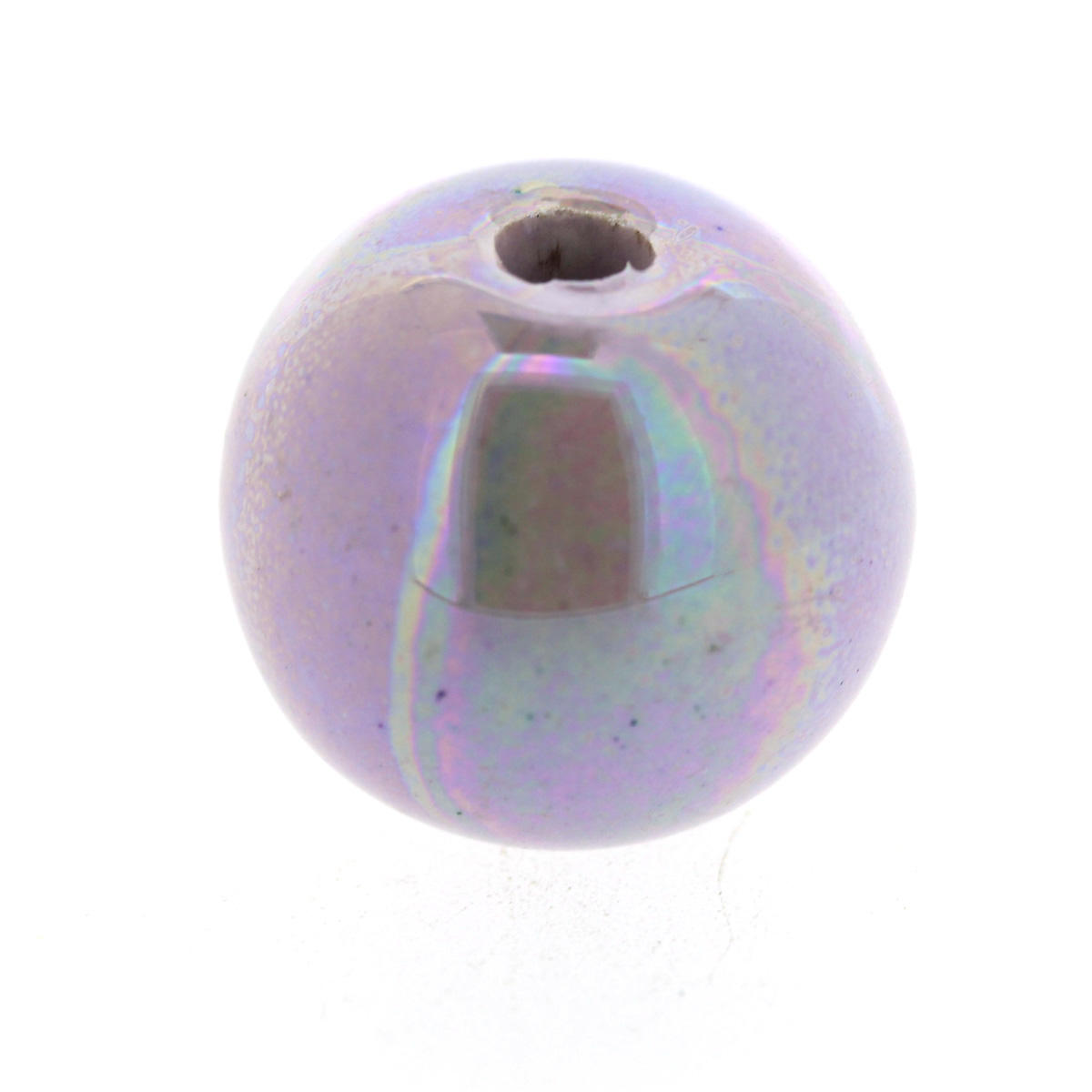 Large Purple Ceramic Ball Bead