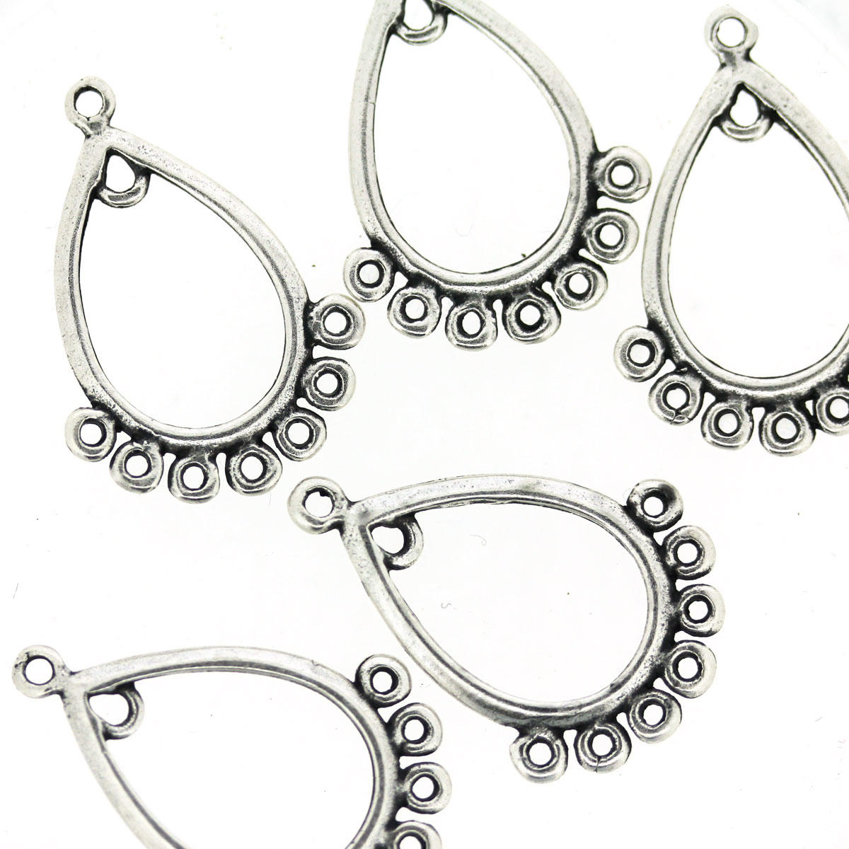 Antique Silver Chandelier Earring Component